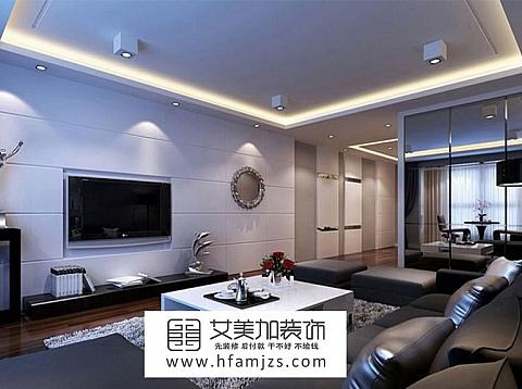 现代风格-灰色家居搭配120平米