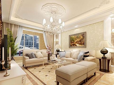暖意欧风-130平米欧式风格四居室