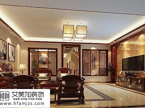 中式装修-古朴雅致350平米别墅