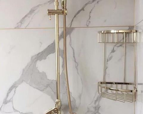 合肥装修,瓷砖也可以把淋浴间装得这样精致